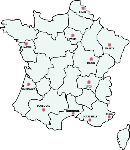 frankreich karte Auf der Karte: Urlaubs Tipps für alle Regionen Frankreichs