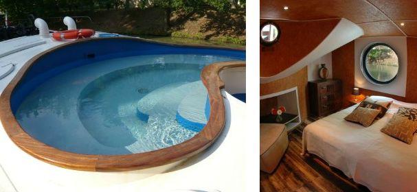 Péniche Alegria, Hotelboot der Luxusklasse
