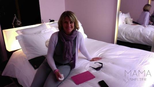 Josee im Hotel Mama Shelter Bordeaux