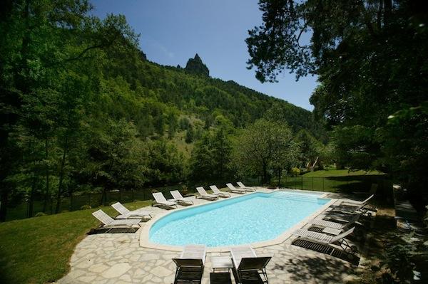 Aussicht vom Hotel de la Muse: die Gorges du Tarn