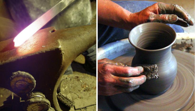 Handwerkers van de route des artisants in Corsica