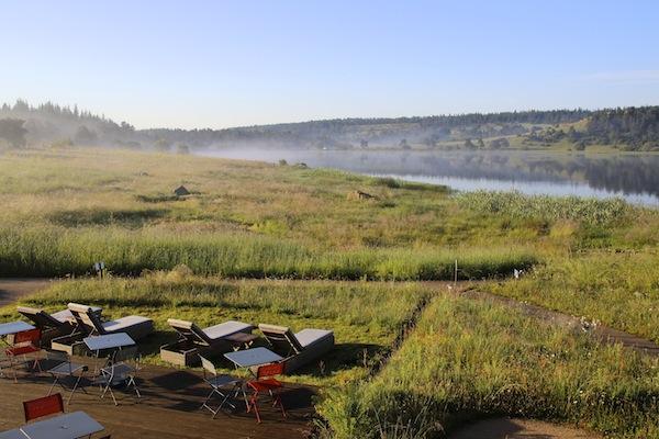 Morgendämmerung des Lac du Pécher