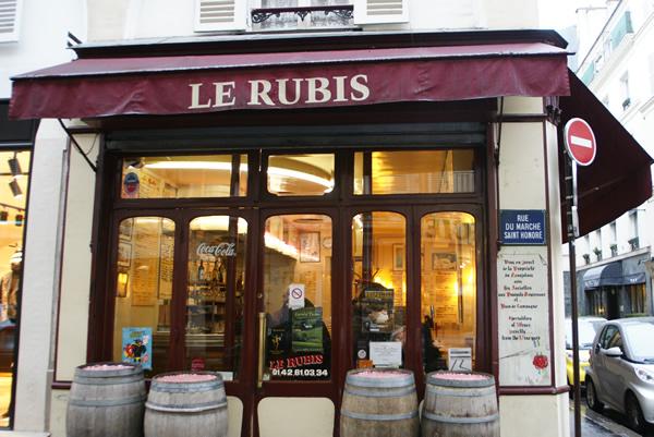 Weinbar le Rubis Paris