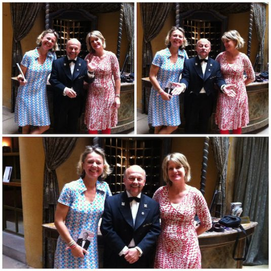 Josee, Carole und Gérard Ravet, concierge hotel Cour des Loges Lyon