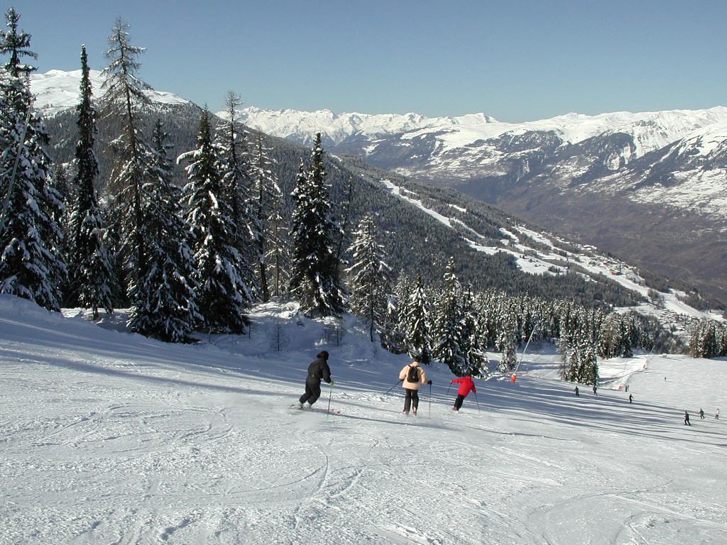Skifahren in Vallandry - Paradiski