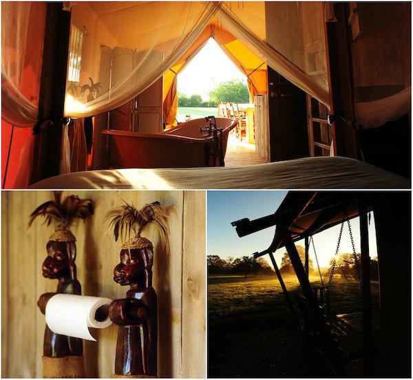 Afrikanischer glamping im Burgund beim Kimaro Farmhouse