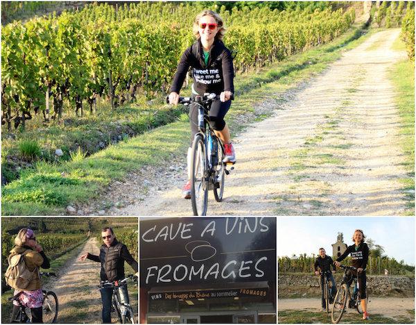 Wein, Käse und Fahrrädern bei Les Terrasses du Rhone in Tain l'Hermitage