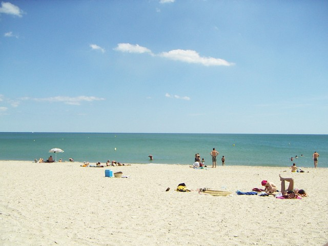 Strand von Maguelones, sehr beliebt in der Homoszene und bei Nacktbadefans