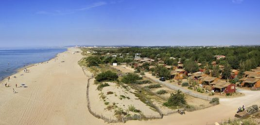 glamping campin Le serignan plage languedoc roussillon