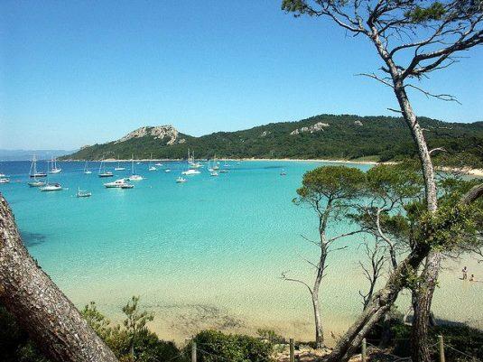 Porquerolles-schoner Insel im Mittelmeer