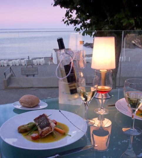 Restaurants am Meer Strand Zelte