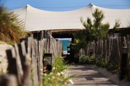 Restaurants am Meer Strand Zelte grande-motte