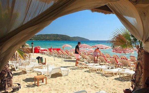 Pampelonne Strand Saint Tropez Frankreich