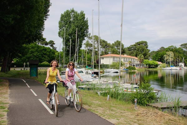 Radfahren auf dem Radwanderweg Vélodyssée