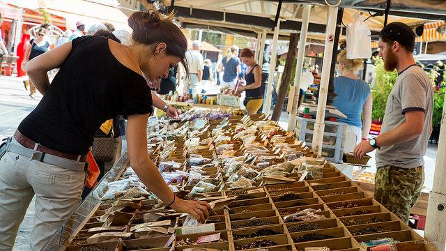 Herbes de Provence auf der markt von Nice