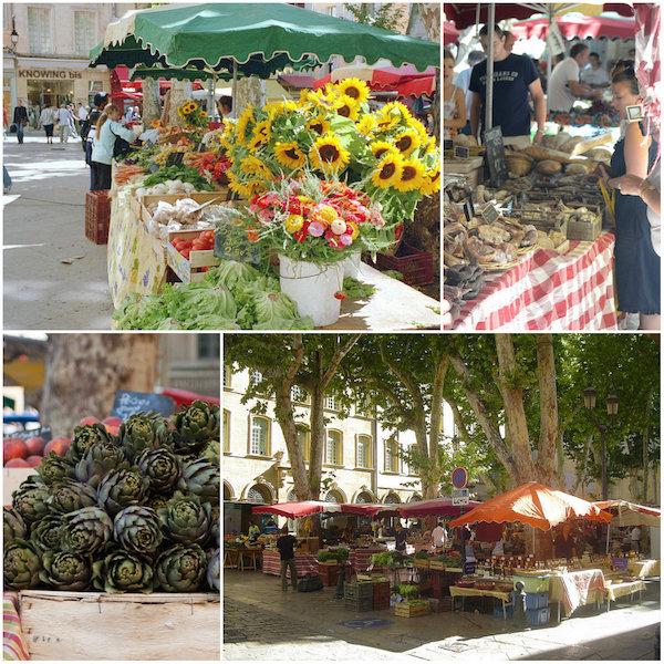 markt von Aix en Provence