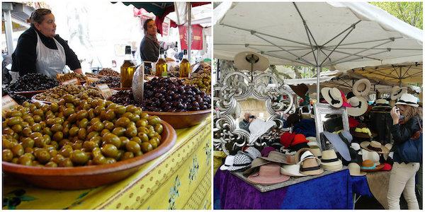 markt von Saint Tropez