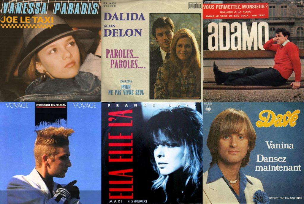 Französische chansons hits in Deutschland