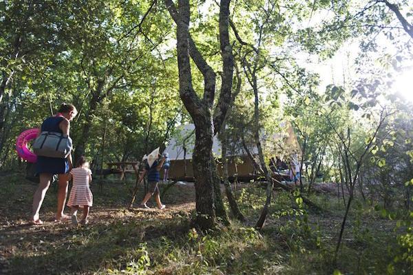 Naturcampingplatz Huttopia im Süden der Ardèche