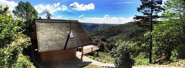 Außergewöhnliche Unterkunft Chalet le Belvedere im Cantal
