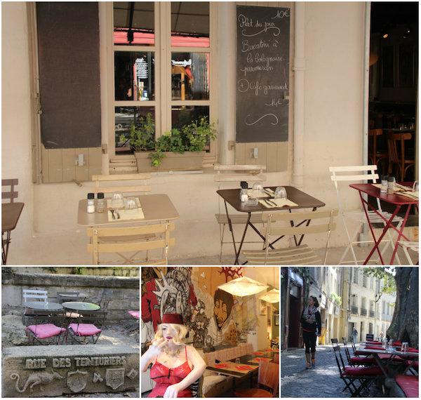 Restaurants Rue Tenturiers Avignon