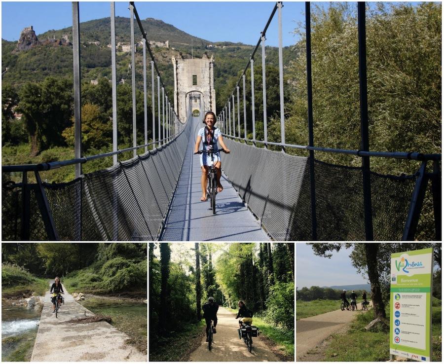 Mit dem Rad entlang der Rhone: Tournon und Bourg-Saint-Andeol