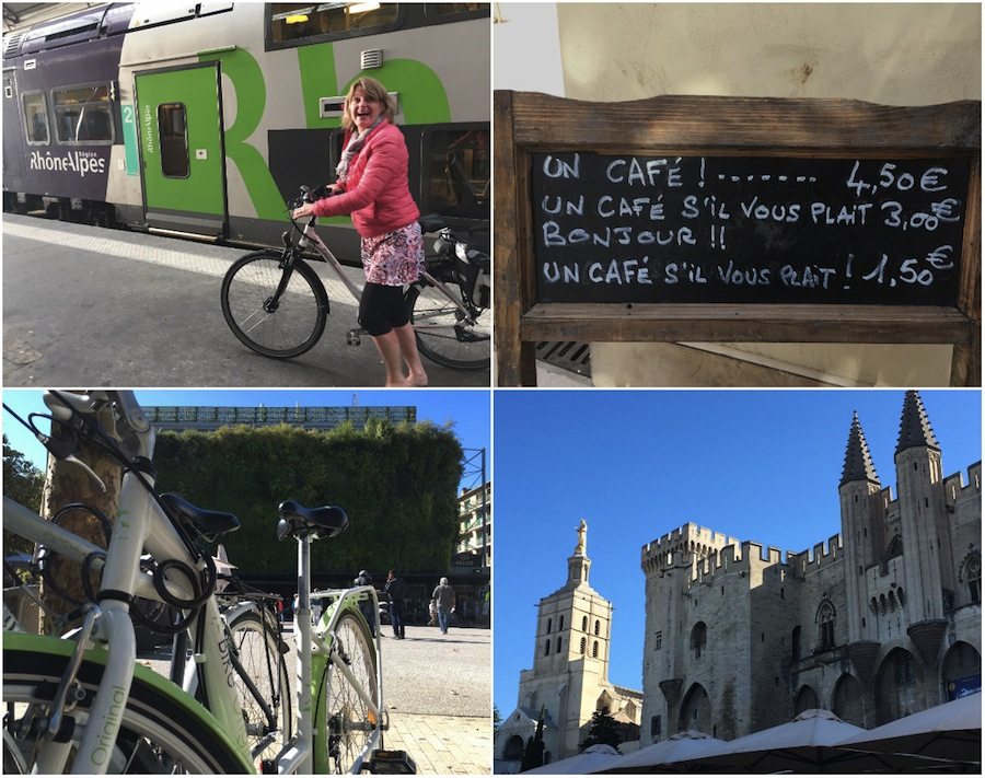 Mit dem Rad entlang Avignon