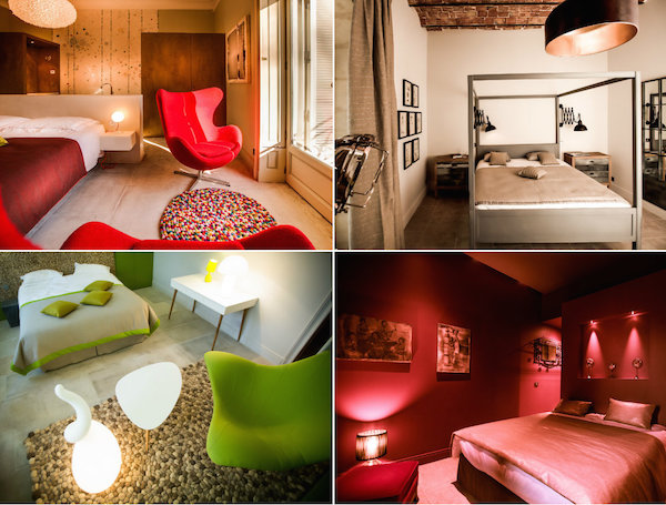 hippe Zimmer in einem romantischen Schloss im Domaine de Biar Montpellier