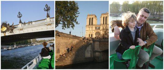 Bootfahren mit Kindern auf der Seine