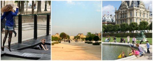 Tuileries-park-Paris mit Kindern