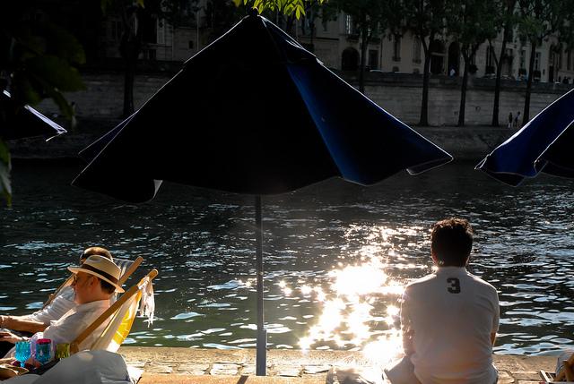 Paris Plage 2017 Sonnenuntergang