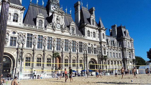 Paris Plage 2017 Jeu de Boules und Volley Ball