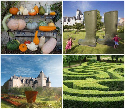 Die Garten von Chateau du Rivas im Loire