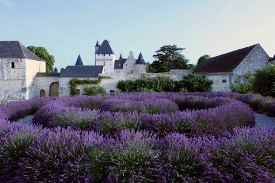Die Garten von Chateau du Rivau im Loire