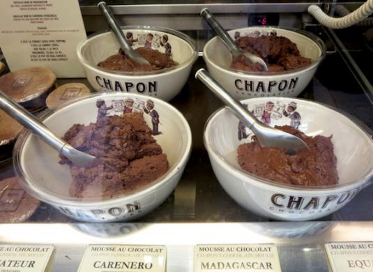 Schokoladen-Mousse von Chapon in Paris