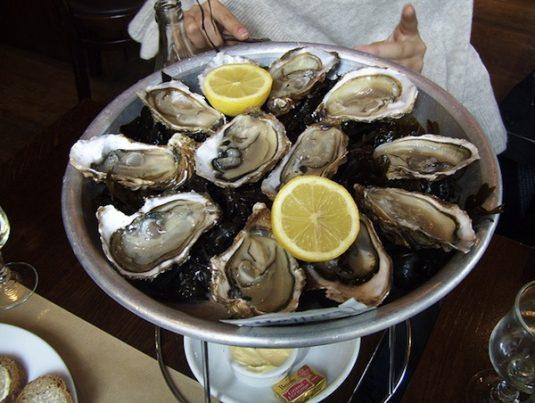 Austern in diverse Brasserien in Paris