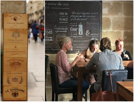Wijnproben bar a vins Bordeaux