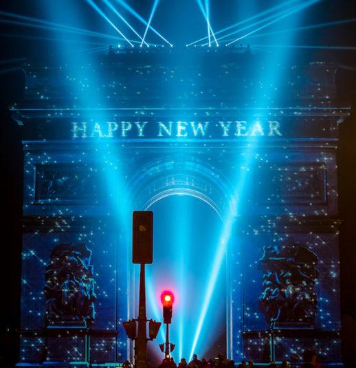 Silvester in Paris: Lichtshow auf dem Arc de Triomphe