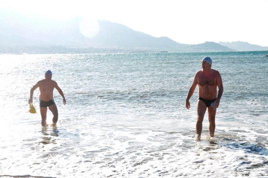 Neujahrsschwimmen in der Nähe von Marseille