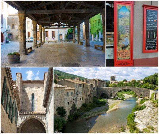 Dorf Lagrasse in Languedoc-Roussillon Südfrankreich