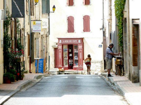 Dorf Montolieu Aude Südfrankreich