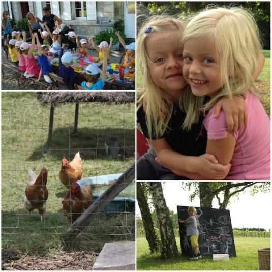 Kinder bei Domaine le Guinot Dordogne Ferienhauser