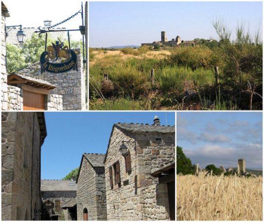 Dorf La Garde-Guérin im Herzen des Departement Lozère