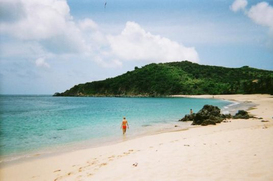 Traumstrand auf St. Martin in der Karibik