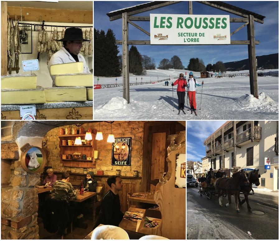 Wintersportaktivitaeten in Les Rousses Frankreich