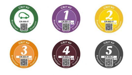 Kategorien Umweltplakette Paris