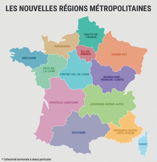 Die Verwaltungsregionen Frankreichs