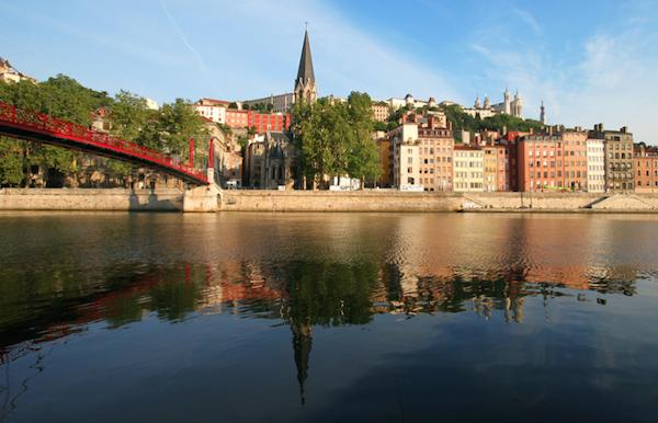 Der Rhone bei Lyon