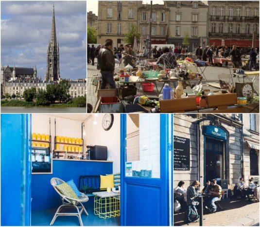 Basilique und Flêche Saint-Michel, Flohmarkt Saint-Michel, Café Une Faime de Loup