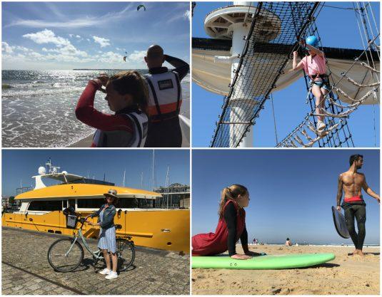 Surfen, Zeilen, Klimmen, Fahrradfahren an der Atlantikküste Frankreich